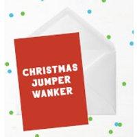 'Christmas Jumper Wanker Greetings Card - Standard Card