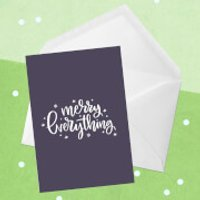 Merry Everything Greetings Card - Large Card