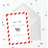 A Femury Christmas And A Hippy New Year Greetings Card - Giant Card - Hippy Gifts