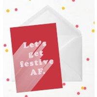 Let's Get Festive AF Greetings Card - Large Card