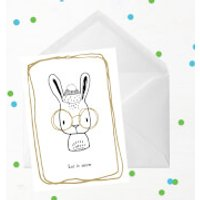 Let It Snow Rabbit Greetings Card - Giant Card