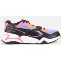 Puma Women's Nova 2 Trainers - Puma Black/Mist Green - UK 8 - Black