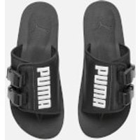 Puma Men's Wilo Lux Nylon Sliders - Puma Black/Whisper White - UK 8 - Black