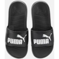 Puma Men's Popcat 20 Slide Sandals - Puma Black/Puma White - UK 4 - Black
