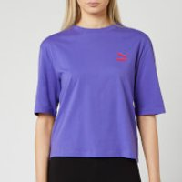 Puma Women's TFS Graphic Short Sleeve T-Shirt - Purple Corallites - S - Purple