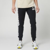 Puma Men's T7 All Over Print Track Pants - Puma Black - S - Black