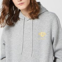 Harry Potter Slytherin Unisex Embroidered Hoodie - Grey - XXL - Grey - Harry Potter Gifts