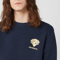 Harry Potter Gryffindor Unisex Embroidered Sweatshirt - Navy - 5XL - Navy - Harry Potter Gifts