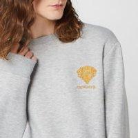 Harry Potter Gryffindor Unisex Embroidered Sweatshirt - Grey - XXL - Grey - Harry Potter Gifts