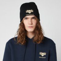 Harry Potter Hufflepuff Embroidered Beanie Hat - Black - Beanie Gifts