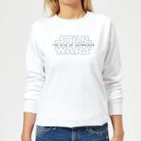 Star Wars The Rise Of Skywalker Logo Women's Sweatshirt - White - L - White