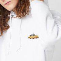 DC Batman Unisex Embroidered Hoodie - White - XL - White