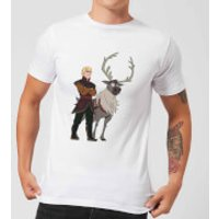 Frozen 2 Sven And Kristoff Men's T-Shirt - White - XL - White