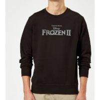 Frozen 2 Title Silver Sweatshirt - Black - S - Black