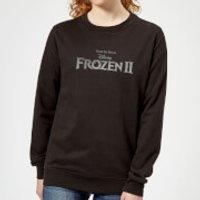 Frozen 2 Title Silver Women's Sweatshirt - Black - XXL - Black