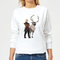 Frozen 2 Sven And Kristoff Women's Sweatshirt - White - XXL - White