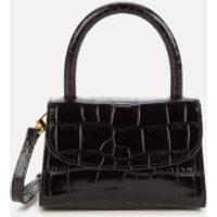 by FAR Women's Mini Croco Embossed Shoulder Bag - Black