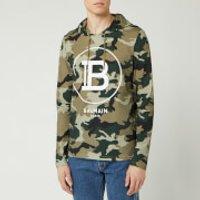 Balmain Men's Hooded Camouflage Hoody - Khaki - XL