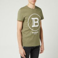 Balmain Men's Large Coin Flock T-Shirt - Khaki - S