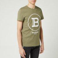 Balmain Men's Large Coin Flock T-Shirt - Khaki - S