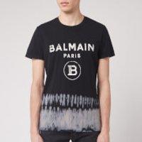 Balmain Men's Tie Dye Printed T-Shirt - Noir - S