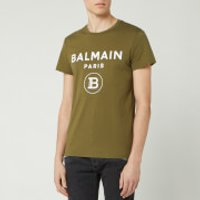 Balmain Men's Small Coin Flock T-Shirt - Khaki - S