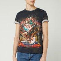 Balmain Men's Printed Classic Fit T-Shirt - Black - XL