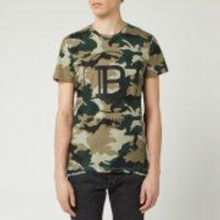 Balmain Men's Printed Camouflage T-Shirt - Khaki - L