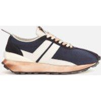 Lanvin Men's Suede Running Trainers - Navy Blue/White - 10