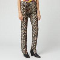 Ganni Women's Print Denim Jeans - Leopard - W27