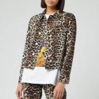 Ganni Womens Print Denim Jacket - Leopard - EU 34/UK 6