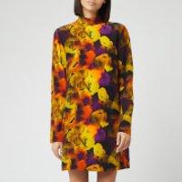 Ganni Women's Silk Mix Midi Dress - Lemon - EU 36/UK 8