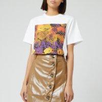 Ganni Women's Graphic Print Cotton Jersey T-Shirt - L