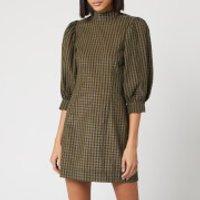 Ganni Women's Seersucker Check Mini Dress - Kalamata - EU 34/UK 6