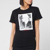 Karl Lagerfeld Women's Legend Profile T-Shirt - Black - M