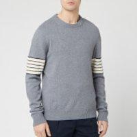 Maison Margiela Men's Sleeve Stripe Knitted Jumper - Grey - S