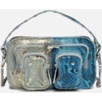 Nunoo Women's Helena Half and Half Cross Body Bag - Silver/Blue