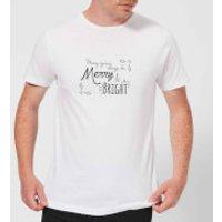 Merry & Bright Days Men's T-Shirt - White - S - White
