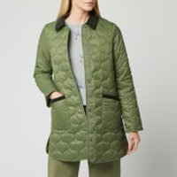Barbour Womens Modern Country Erin Quilted Jacket - Bay Leaf - UK 10