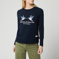 Barbour Women's Modern Country Summer Cabin Overlayer Sweater - Navy - UK 10