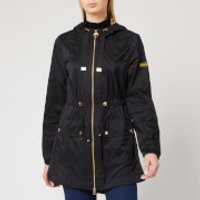 Barbour International Womens Wheelhouse Showerproof Jacket - Black/Gold - UK 14