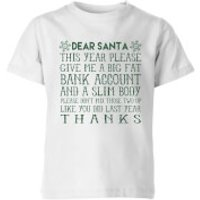 Dear Santa Kids' T-Shirt - White - 11-12 Years - White