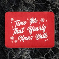 Time For That Yearly Xmas Bath Bath Mat - Xmas Gifts