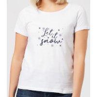 Let is Snow Flakes Women's T-Shirt - White - M - White