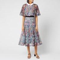 Self-Portrait Women's Floral Vine Collared Midi Dress - Lace -  UK 14