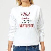 Meet-me-mistletoe Women's Sweatshirt - White - M - White