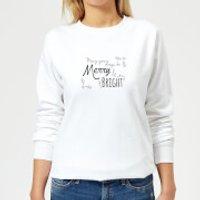 Merry & Bright Days Women's Sweatshirt - White - XS - White