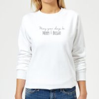 May-your-Days-be-Merry-&-Bright Women's Sweatshirt - White - 5XL - White