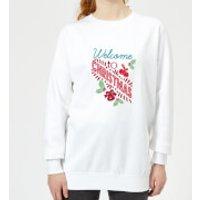 Welcome Women's Sweatshirt - White - 3XL - White