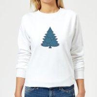 Snowflake tree Women's Sweatshirt - White - XL - White